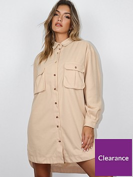 missguided-missguided-oversized-shirt-dress-fleece-cream