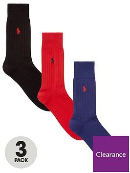 polo-ralph-lauren-egyptian-cotton-ribbed-socks-3-pack-redblackbluenbsp