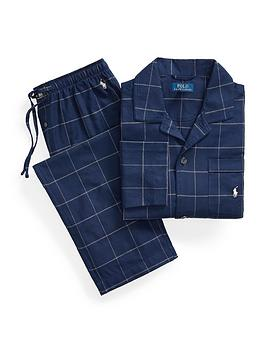 polo-ralph-lauren-flannel-sleepwear-set-navy