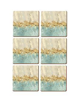 creative-tops-golden-reflections-coasters-ndash-set-of-6