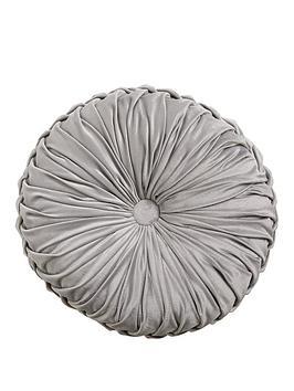 round-pleated-velvet-cushion