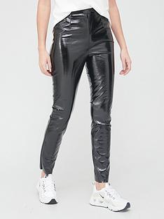 religion-division-vinyl-leatherette-trousers-black