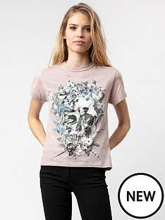 religion-bloom-skull-graphic-t-shirt