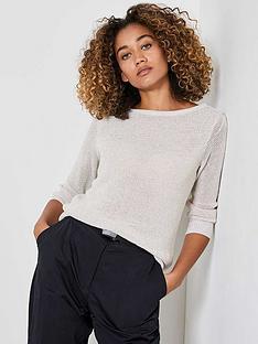 mint-velvet-twist-yarn-three-quarter-sleeve-jumper-neutral