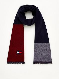 tommy-jeans-heritage-scarf-navyred