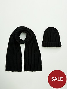 v-by-very-boys-2-piece-set-hat-and-scarf-black