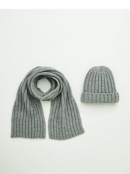 v-by-very-boys-2-piecenbspset-hat-and-scarf-grey