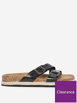 dorothy-perkins-buckle-flat-sandals-black