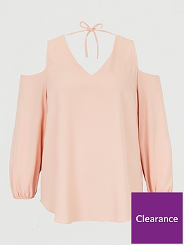v-by-very-curve-cold-shoulder-tunic-blouse-pink