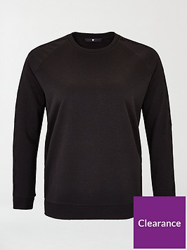 v-by-very-curve-lace-trim-sweat-top-black