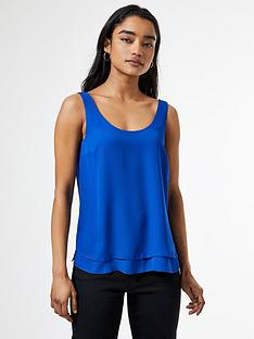 dorothy-perkins-petite-double-layer-shell-top-cobalt
