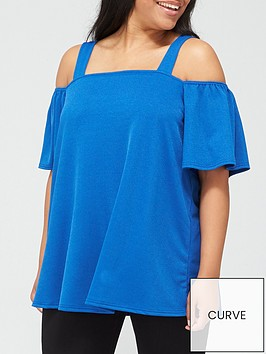 v-by-very-curve-cold-shoulder-top-blue