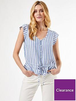 dorothy-perkins-stripe-peplum-hem-shirt--nbspbluenbsp