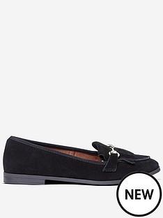 dorothy-perkins-lime-loafers-black