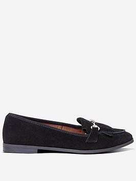 dorothy-perkins-lime-loafers-black