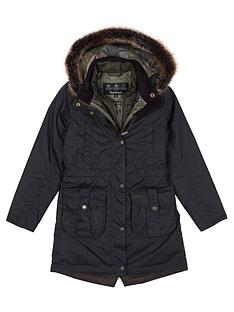barbour-girls-homeswood-wax-faux-fur-hooded-coat-olive
