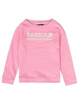 barbour-international-girls-knockhill-sweat-pink