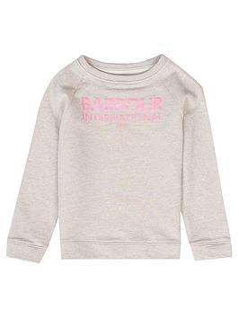 barbour-international-girls-knockhill-sweat-oatmeal