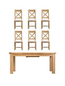 k-interiors-alana-170-220-cm-extending-dining-table-nbsp6-fabric-chairs