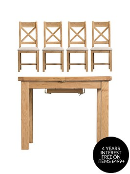 k-interiors-alana-100-140-cmnbspextending-dining-table-nbsp4-fabric-chairs