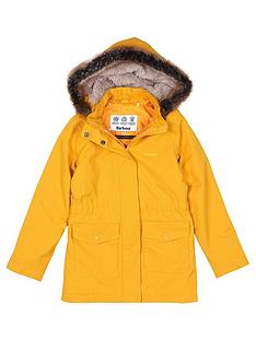 barbour-girls-bournemouth-faux-fur-hooded-rain-coat-ochre