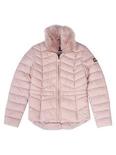 barbour-international-girls-halfbeck-faux-fur-quilt-jacket