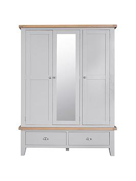 k-interiors-harrow-part-assemblednbsp3-door-2-drawer-mirrored-wardrobe