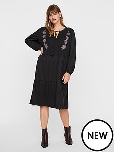 junarose-adina-embroidered-midi-dress-black
