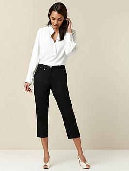 wallis-petitenbspcotton-crop-trousers-black