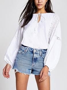 river-island-denim-shorts-light-blue