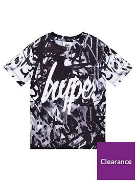 hype-mono-marker-pen-short-sleeve-t-shirt-black