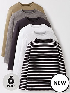 v-by-very-boys-pack-of-6-long-sleeve-t-shirts-multi