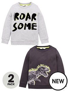 mini-v-by-very-boys-2-pack-dino-printed-sweat-tops-multi