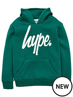 hype-script-logo-hoodie-green