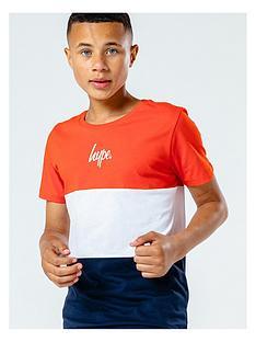 hype-childrensnbspcolourblock-short-sleeve-t-shirt-multi