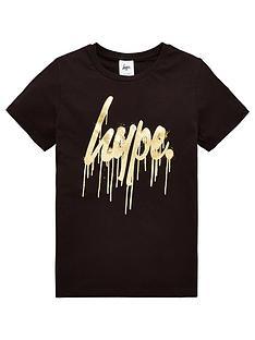 hype-gold-drips-script-short-sleeve-t-shirt-black