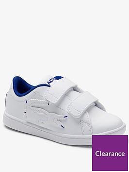 lacoste-boysnbspcarnaby-evo-0320-strap-trainer-white-blue