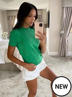 michelle-keegan-minimal-short-sleeve-tee-green