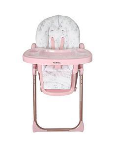 nicole-snooki-polizzi-mawma-rose-gold-marble-premium-highchair