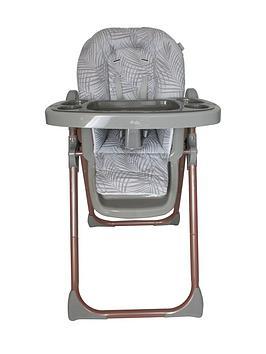 my-babiie-samantha-faiers-rose-gold-grey-tropical-premium-highchair