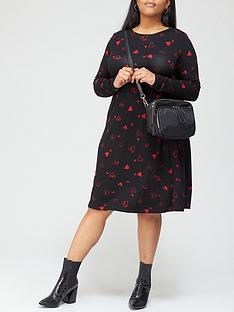 v-by-very-curve-jersey-swing-dress-print