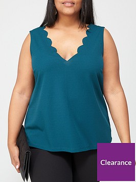 v-by-very-curve-scallop-edge-cami-teal