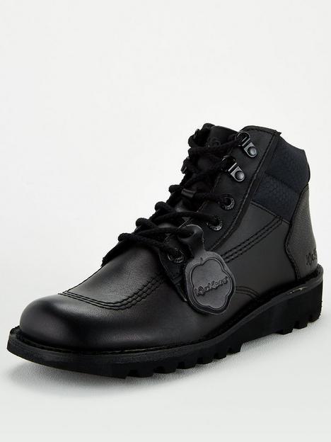 kickers-hi-flex-leather-boot-black