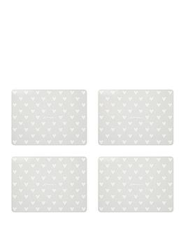 sabichi-pack-of-4-hearts-placemats-and-4-coasters