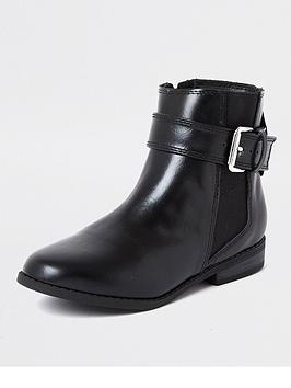 river-island-girls-buckle-flat-boot--nbspblack
