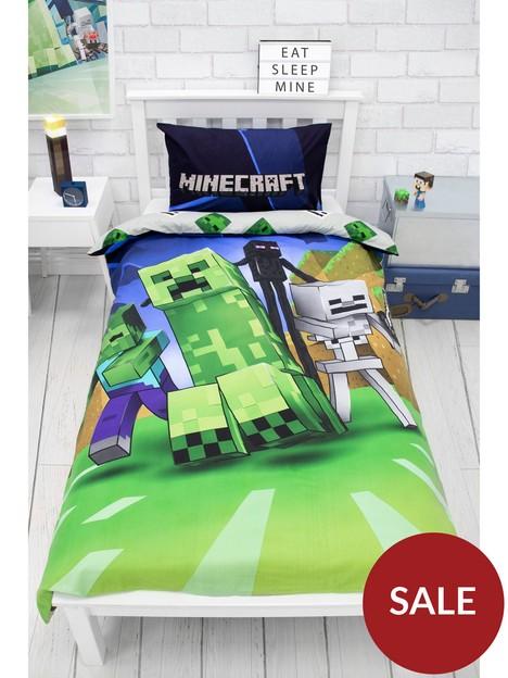 minecraft-creeps-single-duvet-cover-set