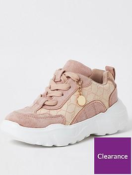 river-island-girls-chunky-jacquard-trainer--pink
