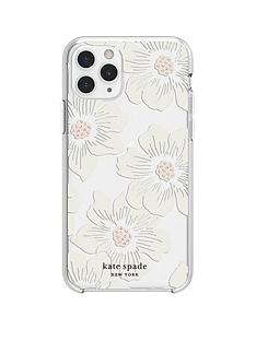 kate-spade-new-york-new-york-protective-hardshell-case-for-iphone-11-pro-hollyhock-floral-clearcream-with-stones