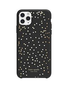 kate-spade-new-york-new-york-protective-hardshell-case-for-iphone-11-pro-max-soft-touch-disco-dots-blackgoldcrystal-gemspearls