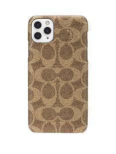 coach-slim-wrap-case-for-iphone-11-pro-max-signature-c-khaki